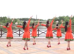 烏蘭紅高安飛揚廣場舞背面演示