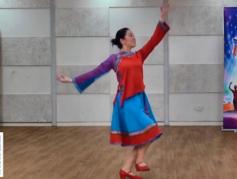 藏族舞蹈卓玛 正背面演示分解 编舞孔雪