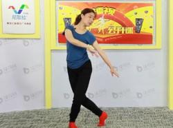 西湖莉莉广场舞心问海 含教学和背面演示 藏族伦巴舞蹈