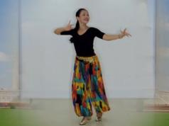 王梅广场舞印巴风情正面背面演示教学