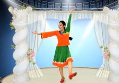 王梅广场舞阿克香巴正面背面演示教学 藏族民歌