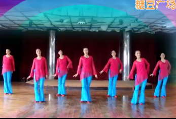 天姿广场舞《等爱》正反面演示 中老年广场舞
