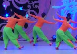 幸福跳起来星月广场舞背面舞蹈视频