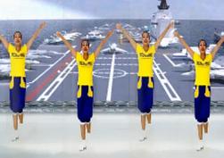 王梅广场舞我们的南海 馨梅广场舞我们的南海正面舞蹈视频