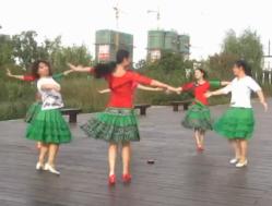 盛泽雨夜广场舞爱的世界只有你 郊游转圈舞 演唱:祁隆