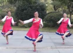 紫紫雨广场舞阿克香巴舞蹈视频 藏族民歌