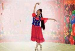 艺莞儿广场舞萨丽哈最听毛主席的话正面背面演示教学 哈萨克新舞