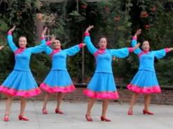 格格广场舞额吉的炊烟正面舞蹈视频