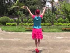 米亚罗公主廖弟泽美广场舞教学和背面演示 藏族舞蹈