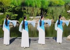 張春麗廣場舞渡風教學與背面演示 古典舞江湖風