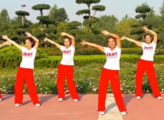 舞动旋律2007健身队广场舞毛主席语录正面背面演示教学 国庆节广场舞