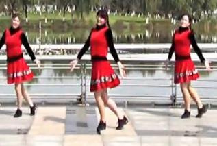 青儿广场舞 原创健身舞《把心交给你》演唱:阿香