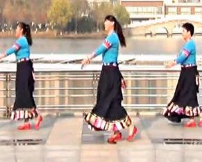 青儿广场舞《拉萨情歌》原创民族风广场舞 演唱瞿英
