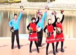 青兒廣場舞《中國力量》原創11人變隊形比賽-教學