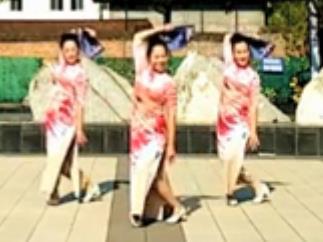 王梅廣場舞 中國旗袍