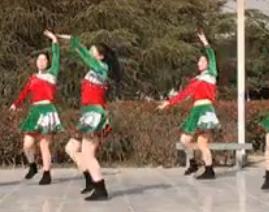 《聽我唱情歌》茉莉廣場舞原創藏族民族舞歌手周奕宏