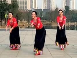 王梅广场舞《天边的巴拉格宗》视频舞曲?#19978;?#36733;