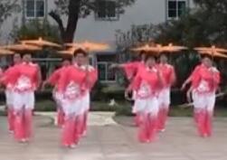 茉莉广场舞16人变队形《江南梦》原创表演比赛节目
