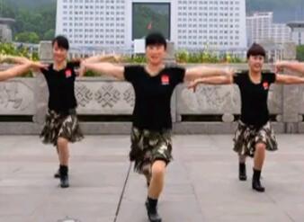 吉美广场舞原创《格桑拉》单人水兵舞 分解教学