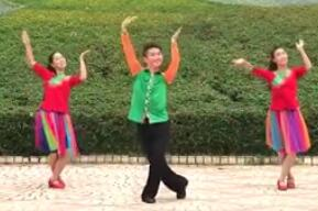 广西廖弟原创健身广场舞 幸福花开一朵朵