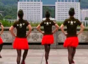 吉美广场舞原创《情歌赛过春江水》单人水兵舞 附教