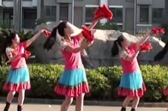 茉莉广场舞《我是固安人》原创手绢花健身舞附教学