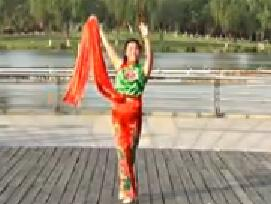青儿广场舞 原创队形版《山丹丹开花红艳艳》