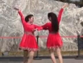 美久廣場舞 唱著情歌留著淚 雙人對跳32步