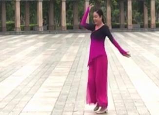張春麗廣場舞 愛在山花爛漫時 正背表演與動作分解