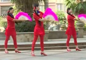 杨丽萍广场舞 大辫子 单扇扇子舞