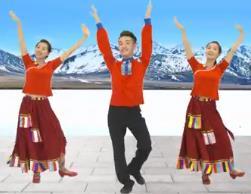 广西廖弟原创健身舞广场舞 向往拉萨