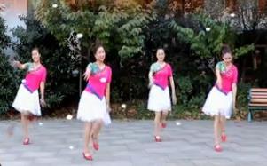 刘荣广场舞《我的家乡下雪了》原创附教学和背面演示
