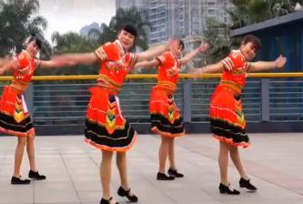 2018吉美广场舞《摆手欢歌》民族舞 附教学