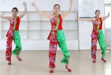 《丰收中国》刘荣广场舞原创附教学和背面演示