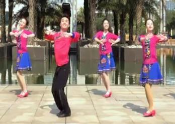 广西廖弟原创健身舞情到花开正背表演