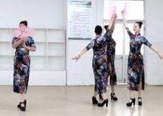 刘荣广场舞《旗袍女儿情》原创附教学和背面演示