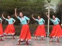 茉莉廣場舞《草原美酒干一杯》原創藏族風民族舞附教