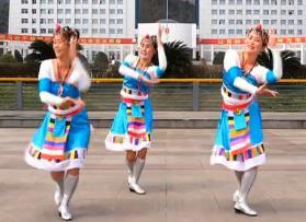 吉美广场舞《再唱山歌给党听》民族形体舞 附教学