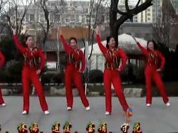 刘荣广场舞《开门红》原创附教学和背面演示