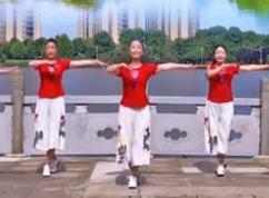 春英广场舞【一朵回忆心上开】简单广场舞