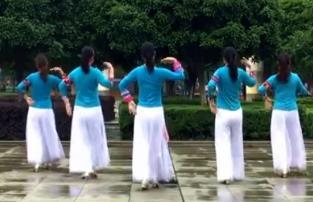 爱吾广场舞《水边的格桑梅朵》欢快现代舞原创附教学-视频下载