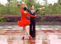 羽裳交谊舞《绽放》 伦巴队形表演含教学 舞曲《在那东山顶上》