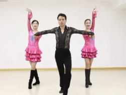 曾峰三步踩 2015伦巴芬芳一拖二含教学 舞曲央金兰泽《爱在思金拉措》
