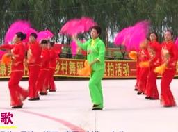 于家镇艳阳天广场舞 东北大秧歌 表演 扇子舞